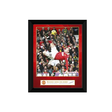 Obraz MANCHESTER UNITED FC Rooney Derby Goal 20x15cm