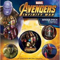 Avengers Infinity War Button Badge Set