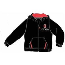 Mikina AC Milan černá s kapucí 3-4 let